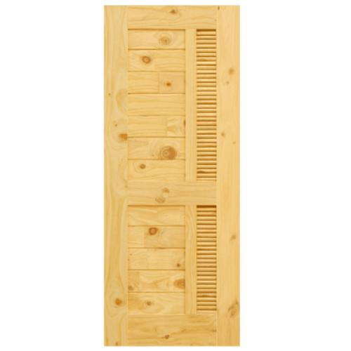 D2D ประตูไม้สนนิวซีแลนด์  ขนาด 90x200 ซม. Eco Pine - 019