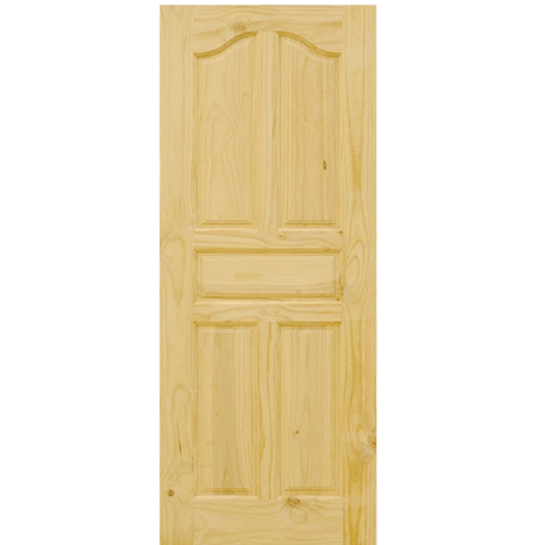 D2D ประตูไม้สนนิวซีแลนด์ ขนาด  100x200 cm. D2D-102