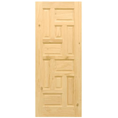 D2D ประตูไม้สนนิวซีแลนด์ ขนาด 80x200 ซม. Eco Pine - 018