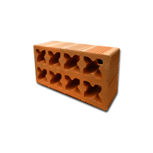 TTT อิฐช่องลม 8 ดอก  25x12x8 ซม. BPK8-1225 สีส้ม