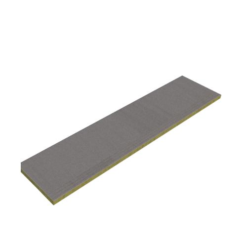 DURA ไม้บันไดลูกนอนลายเสี้ยนเซาะร่องหน้า11 ดูร่าวัน 2.4x27x120ซม. สีซีเมนต์ Duraone Cement Board