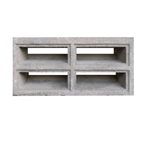 DURA บล็อคช่องลม สี่ช่องเหลี่ยม (9x19x39 ซม) สีซีเมนต์ Duraone Block