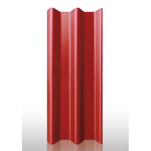 DURA ลอนคู่ ดูร่าวัน ขนาด 50x120x0.5 ซม. สีแดงเศรษฐี