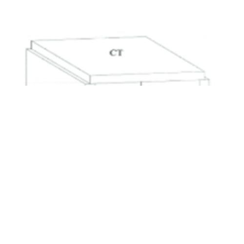 Dura one ผนังเสริมเหล็ก ดูร่าวันเคาน์เตอร์ ท็อป 56x150x7.5 cm. สีขาว