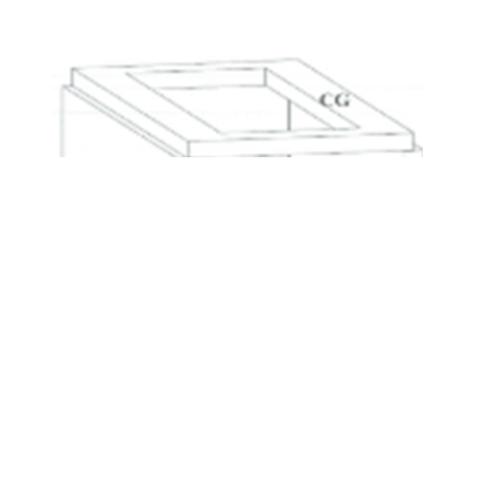 DURA ดูร่าวันเคาท์เตอร์ เตา 56x90.5x7.5 cm. เตา 56x90.5x7.5 cm. สีขาว