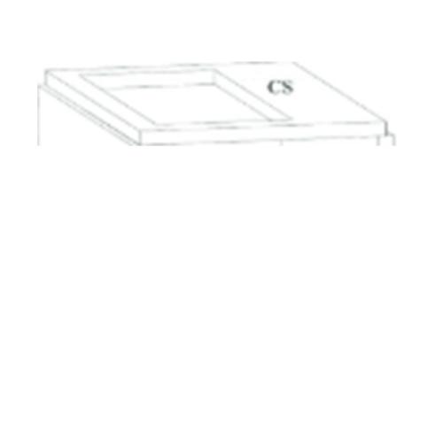 Dura one ดูร่าวันเคาท์เตอร์ ซิงค์ 56x120x7.5 cm. - สีขาว