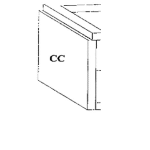 DURA ดูร่าวันเคาท์เตอร์ ขา 56x75.5x7.5 cm. ขา 56x75.5x7.5 cm. สีขาว