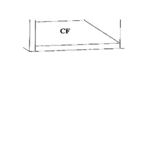 Dura one ผนังเสริมเหล็ก ดูร่าวันเคาน์เตอร์ พื้น 56x112.5x 7.5 cm. สีขาว