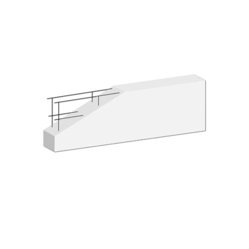 DURA คานทับหลังดูร่า  7.5x20x210 ซม. สีขาว