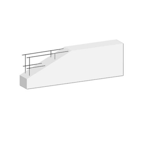 DURA คานทับหลังดูร่า  7.5x20x120 ซม. สีขาว
