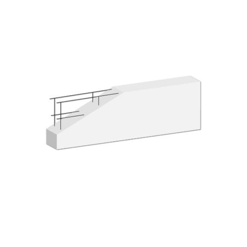 DURA คานทับหลังดูร่า  7.5x20x180 ซม. สีขาว