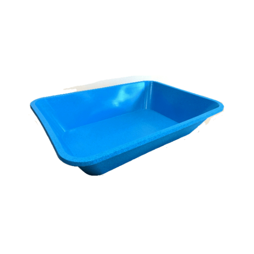 W.PLASTIC อ่างเปลสี่เหลี่ยม  ขนาด 230 ลิตร 92x130x28 ซม. สีฟ้า