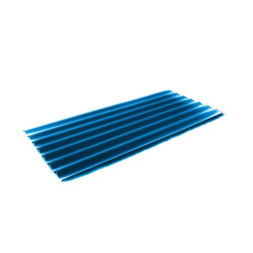 โอฬาร กระเบื้อง  0.4x54x150 ซม. สีฟ้าสดใส (ลูกโลก) ลอนเล็ก