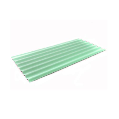 โอฬาร กระเบื้อง 0.4x54x120 ซม.สีเขียวรุ่งเรือง(ลูกโลก) ลอนเล็ก