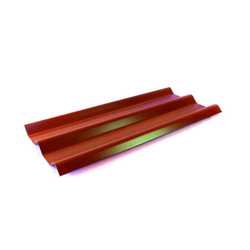 โอฬาร กระเบื้อง 0.5x50x120 ซม.สีแดงประกายทับทิม (ลูกโลก)  ลอนคู่