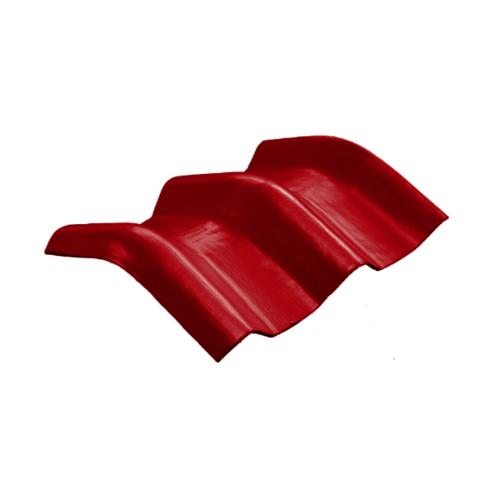 โอฬาร ครอบมุม 20 องศา สีแดงประกายทับทิม (ลูกโลก) ลอนคู่