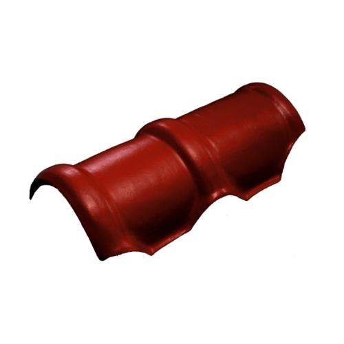 โอฬาร ครอบสันโค้ง สีแดงประกายทับทิม (ลูกโลก) ลอนคู่