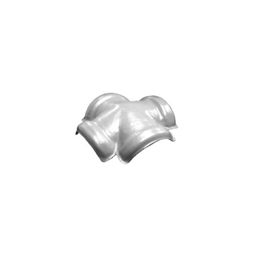 โอฬาร ครอบสันโค้ง4ทาง(จิงโจ้) ลอนเล็ก สีขาว