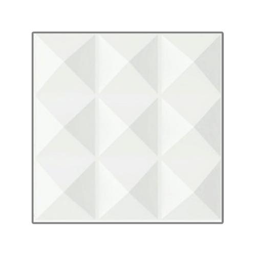 ECO PLUS แผ่นตกแต่งผนัง 3มิติ 50x50cm. 013 (ลายภูเขา)  ขาว