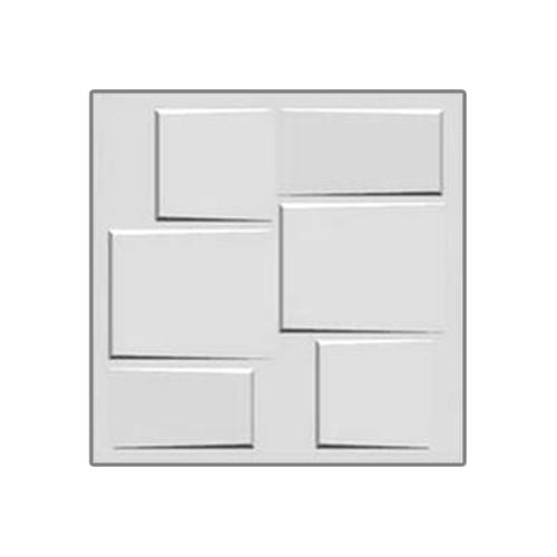 ECO PLUS แผ่นตกแต่งผนัง 3มิติ 50x50cm. 018 (ลายคิวบิค)  ขาว