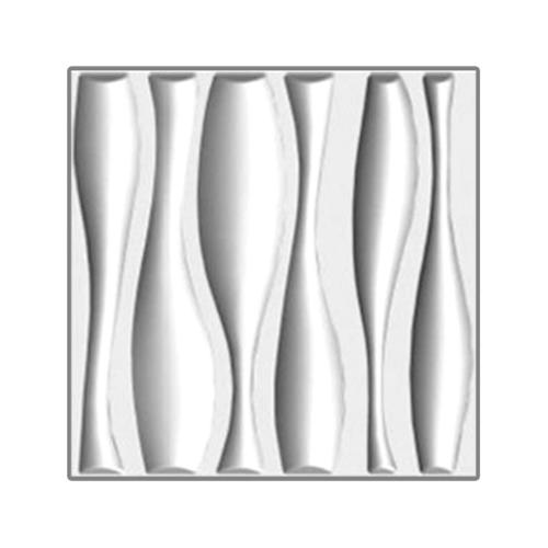 ECO PLUS แผ่นตกแต่งผนัง 3มิติ 50x50cm. 032  ขาว