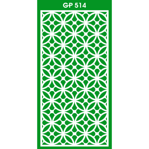 ECO PLUS แผ่นฉลุลาย GP514 หนา 10mm. 60cm.x120cm. ขาว  ขาว