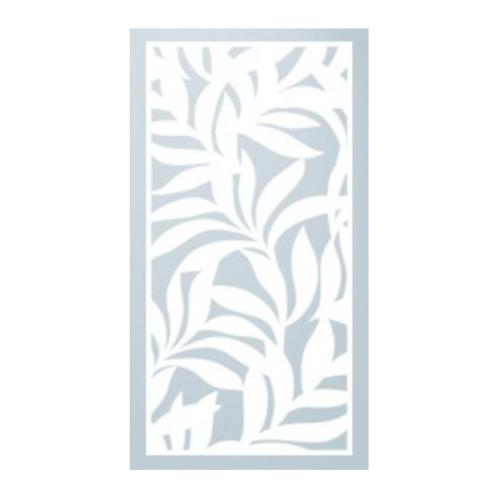ECO PLUS พลาสวูดฉลุลาย ND01 120.00cm.x240.00cm. ขาว หนา (10mm.)  ขาว