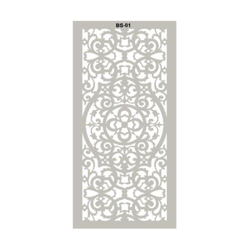 ECO PLUS แผ่นฉลุตกแต่ง พลาสวูด BS01 60x120cm. สีขาว ECO-PLUS  ขาว