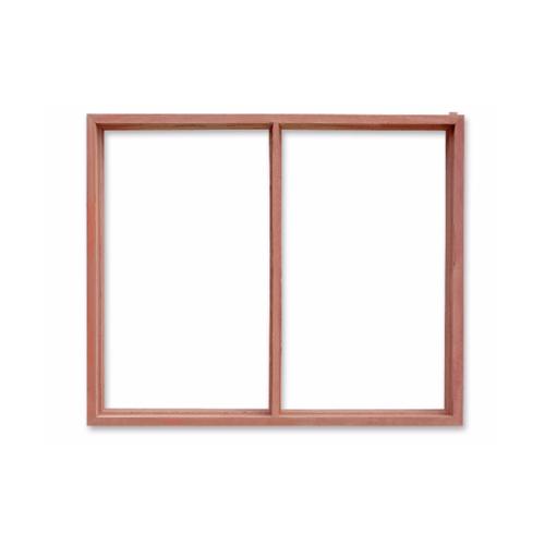 ตราไก่ วงกบหน้าต่างไม้ 2ช่อง  ขนาด60x100 ซม.
