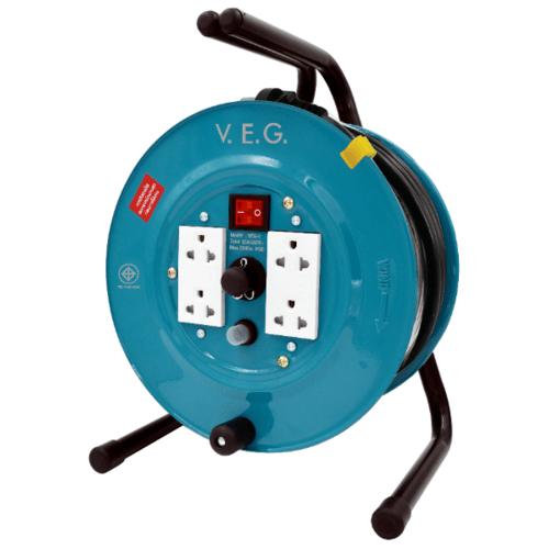 V.E.G. ล้อเก็บสายไฟ 16A 3600W VEG2520 สีเขียว