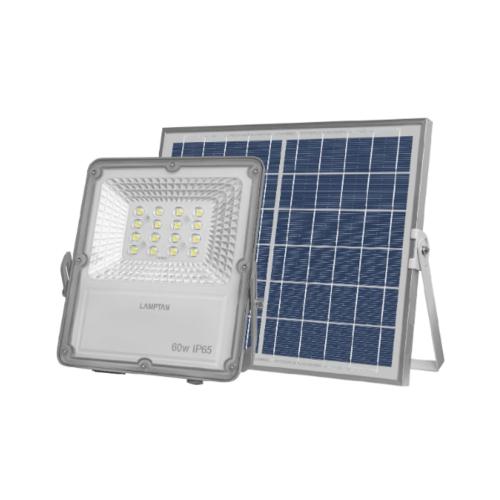 LAMPTAN โคมไฟแอลอีดี ฟลัดไลท์ โซลล่าเซลล์ 60 วัตต์ เเสงขาว SOLID IP65