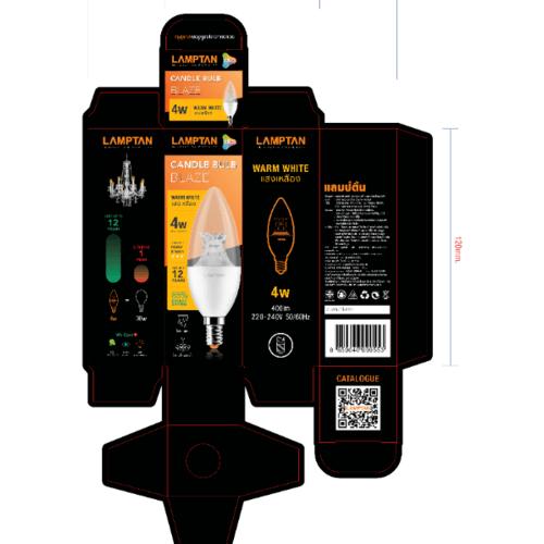 Lamptan หลอดไฟแอลอีดี แคนเดิ้ล บับ 4W แสงวอร์มไวท์ BLAZE