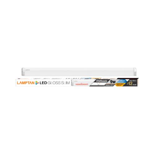 LAMPTAN ชุดรางแอลอีดี เซ็ท 9 วัตต์ เดย์ไลท์ GLOSS SLIM สีขาว