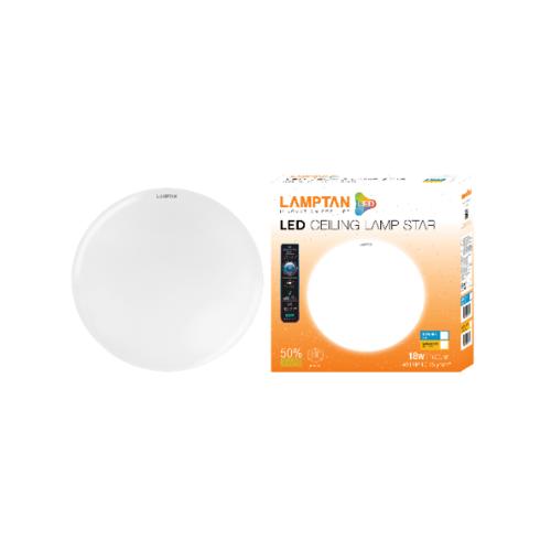 LAMPTAN โคมซาลาเปาแอลอีดี 18W LED Ceiling Lamp สีขาว