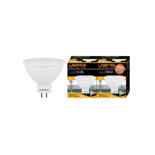 LAMPTAN หลอด LED วอร์มไวท์ P.2 MR16 5W. 220V. สีขาว
