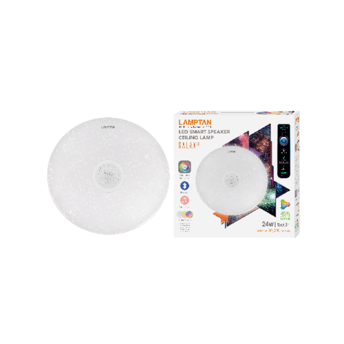LAMPTAN โคมแอลอีดี  24 วัตต์ Smart Speaker Ceiling Galaxy สีขาว
