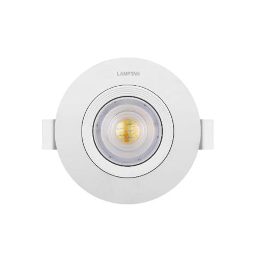 LAMPTAN โคมแอลอีดี สปอร์ตไลท์ 3 แสง หน้ากลม  7 วัตต์ SPOTLIGHT สีขาว