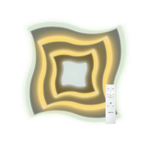 LAMPTAN โคมไฟเพดาน มัลติสมาร์ท LED 2*50W รุ่น SWIRL + รีโมท  Swirl  สีขาว