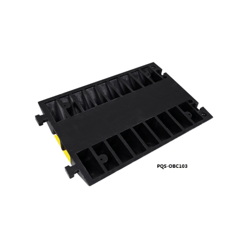 Protx ยางป้องกันสายไฟ 2 ช่อง 90x60x10Cm.  สีดำ-เหลือง PQS-OBC103