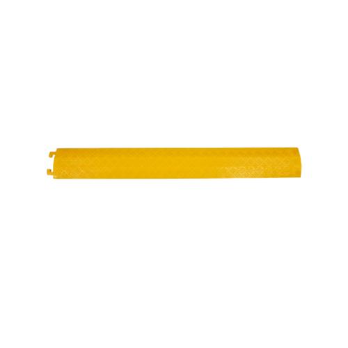Protx ยางป้องกันสายไฟ 1 ช่องเล็ก 100x13x2Cm.  PQS-OBC118 สีเหลือง