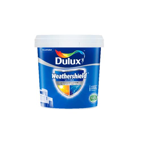 Dulux สีน้ำทาภายนอก(กึ่งเงา) เบส B ขนาด 9ลิตร Weathershield Ultima (Semi-Gloss) ขาว