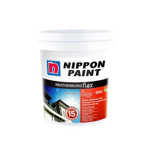 NIPPON สีน้ำภายนอก นิปปอน เวทเทอร์บอรด์ เฟลก เบส A  2.5Gl. ขาว