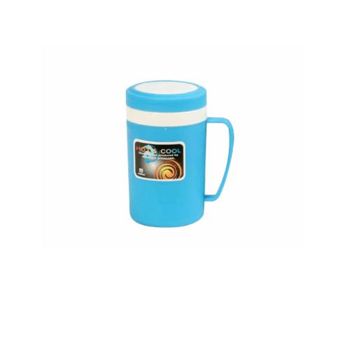 ตรามือ ถ้วยฮ็อตแอนด์คูล 0.6 ลิตร  RW.0157-1 ชมพู , เขียว ฝาใหม่
