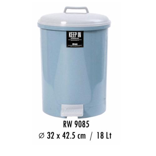 - ถังขยะอนามัยฝาเหยียบ 18 ลิตร RW.9085ET