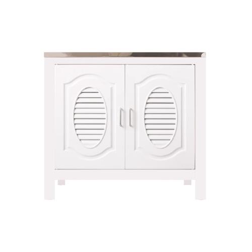 Polywood ตู้ตั้งพื้น  ABS ท็อปหลุม  Knock Down M11 สีขาว
