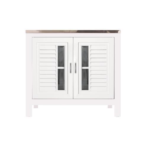 Polywood ตู้ตั้งพื้น Knock Down ABS  ท็อปหลุม M16  สีขาว
