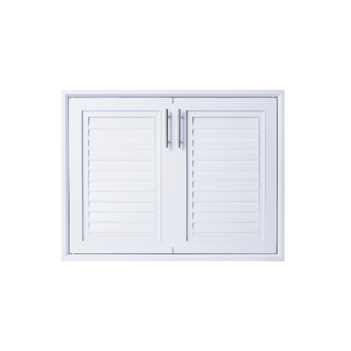 Polywood บานซิงค์คู่ M-SERIES ขนาด 85.5x65.5 cm.  TW M-13  สีขาว