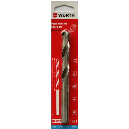 WUERTH ดอกสว่าน เจาะเหล็ก ขนาด 13.0 mm. DIN 338 HSS