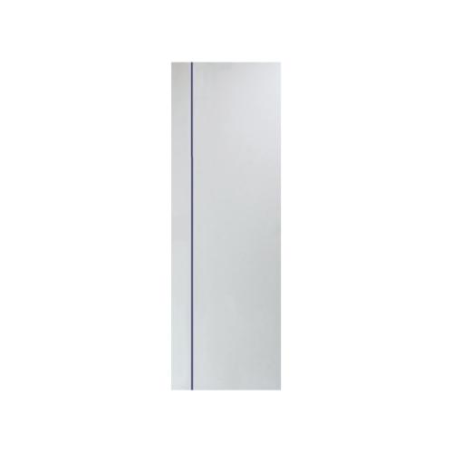 PEOPLE ประตู UPVC เซาะร่องน้ำเงิน ขนาด 70x200 (เจาะ)  MG1 สีขาว