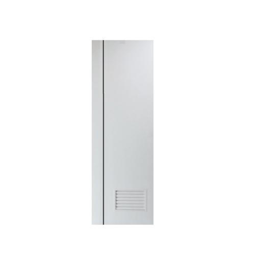 PEOPLE ประตู UPVC เซาะร่องดำ มีเกล็ดล่าง1/4  ขนาด70x200 (เจาะ)  MG2 สีขาว